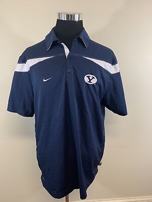 first rate d49d2 1c8aa BYU Cougars Nike Dri-Fit Polo Mens Large