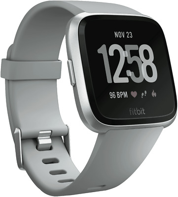 NEW Fitbit 4124451 Versa Smart Watch - Grey Silver Aluminum