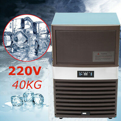 40KG Auto Commercial Ice Cube Maker Stainless Steel Machine Undercounter 300W US