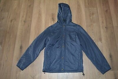 J Crew Mens Quilted hooded Navy Blue Jacket size S