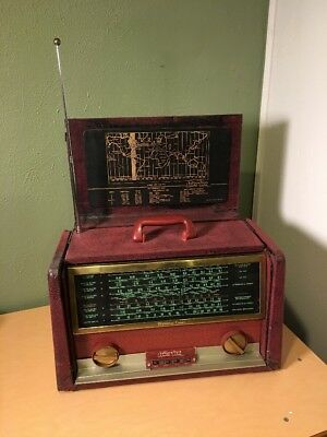 Vintage Hallicrafters Dynamic Tuner World Wide Band Portable Tube Radio