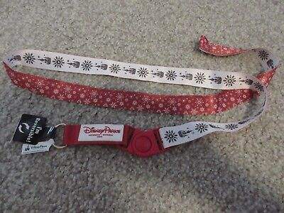 Disney Parks 2018 Holiday Reversible Breakaway Pin Lanyard Christmas NEW