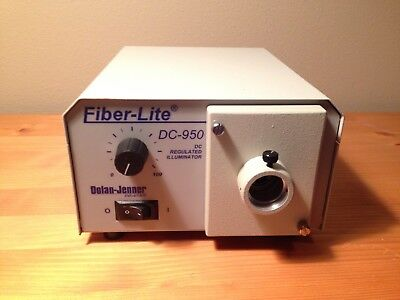 Dolan-Jenner Fiber-Lite DC-950 Regulated Fiber Optic Illuminator Working