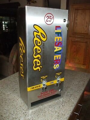 Reese's peanut butter cups & lifesavers double  vending machine man cave diner