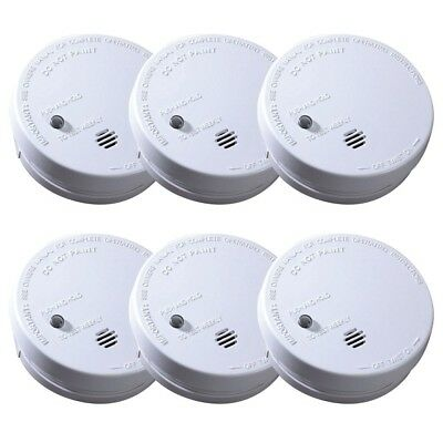 Battery Operated Smoke Detector Alarm Ionization Sensor Home Fire Safety 6-pack