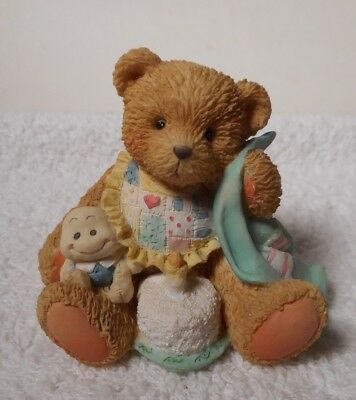 """1992 """"Beary Special One""""  Age 1 -P. Hillman  Baby Bear Figurine  911348"""