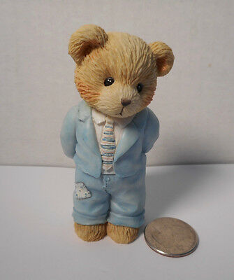 """Cherished Teddies- 1993 Priscilla Hillman """" A Father is the Bearer of Strength"""""""
