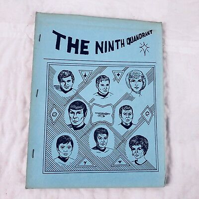Star Trek TOC The Ninth Quadrant #1 Fanzine Magazine Vtg Quandrant 1977