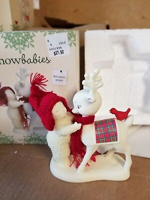 Dept 56 Snowbabies Figure. Reindeer Kisses. New In Box