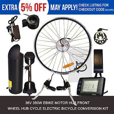 Electric Bicycle Conversion Kit 36V 350W 26'' Wheel Ebike Hub Motor with Battery