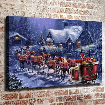 """Victorian Christmas 16""""x26"""" Painting HD Canvas prints Home Decor art Picture"""