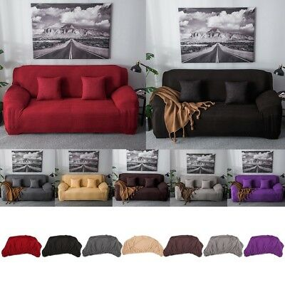 1/2/3/4 Seater Stretch Elastic Fleece Thick Sofa Cover Slipcover Couch Covers