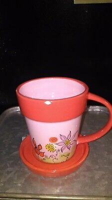 Starbucks hand painted coffee cup. Great used condition! Super cute! 10 oz.