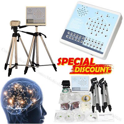 24 Channels Digital Brain Electric Activity Mapping EEG Machine+CD+2 Tripods,CE