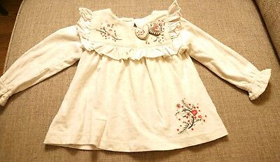 Next Baby Girl Long Sleeve Christmas T-Shirt Age 6-9 Months