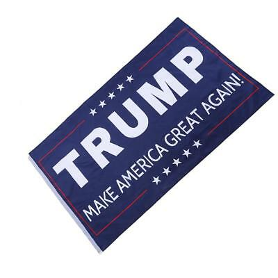 Double Sided Donald Trump Flag Make America Great Again Blue Banner President