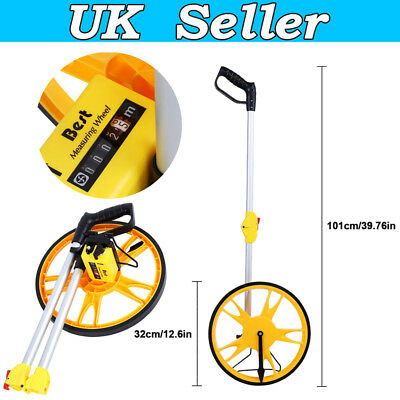 Foldable Distance Measuring Wheel w/ Stand For Builder Workers Road Land Measure