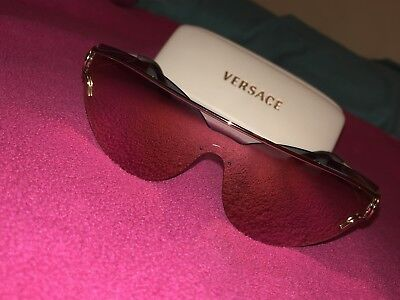 2a9c89e56e Versace Mirror VE2186 1252 4Z Pale Gold Fashion Cat Eye Sunglasses 38mm