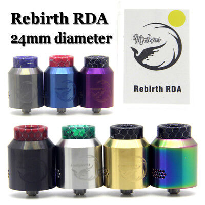 Rebirth RDA 24mm Tanque 810 Cobra 510 Drip Tip BF Squonk Pin Acero inoxidable