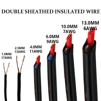 Twin Core Cable Battery Welding Power Wire Auto Trailer Ute Marine Boat Solar