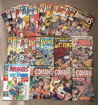 22 Avengers/Savage Sword Of Conan Comics Bundle Marvel Comics 1975/76 Stan Lee.
