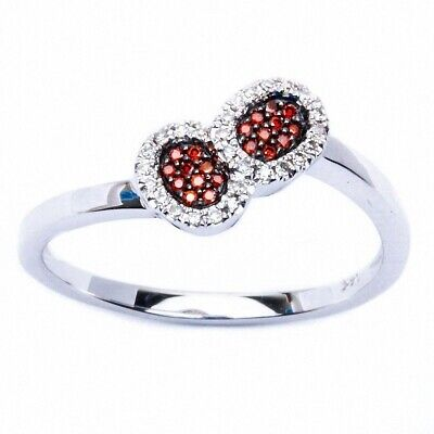 Art Deco Genuine Diamond & Garnet Fine Gemstone Ring E VS Quality 14kt Gold
