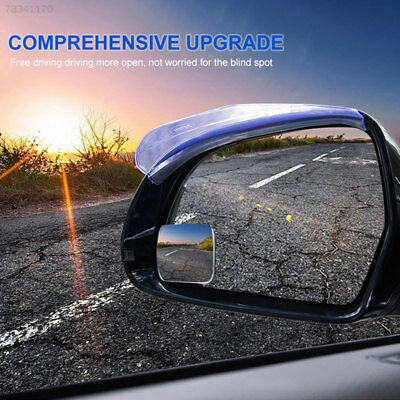 74D5 Car Rearview Mirror Mirrors Square Adjustable Blind Spot Mirror External^