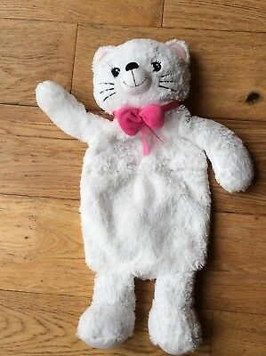 White Cat Hot Water Bottle Cover