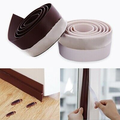 Home Self-Adhesive Weather Stripping Under Door Stopper Window Prevent Bugs US