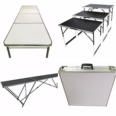 Trade Show Folding Table Aluminium Lightweight Height Adjustable For Camping BBQ