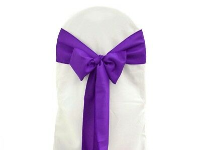 65 x Purple Satin Sashes for Chair Covers Excellent Condition