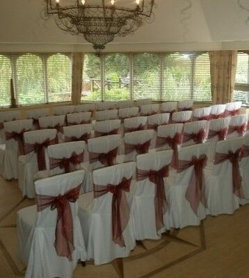 40 x Large Square Top White Chair Covers