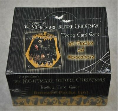 The Nightmare Before Christmas Nbx Tcg Booster Box & 4 Starter Decks New Sealed