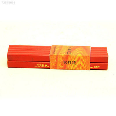 B4F1 DIY 10pcs 175mm Carpenter Pencils Builders Joiners Woodworking Stationery