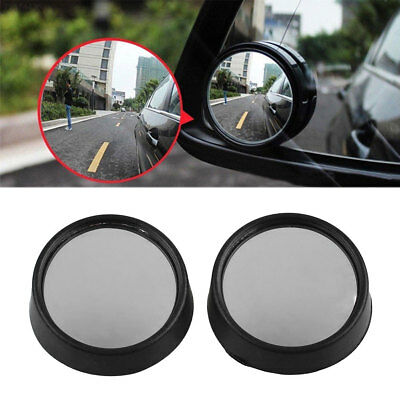 3B0A 2Pcs Auto Car Vehicle Side Wide Angle Round Convex Blind Spot Rearview Mirr