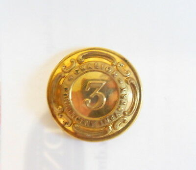 Indian Army. 3rd Gwalior Contingent Infantry Officer's Tunic Button