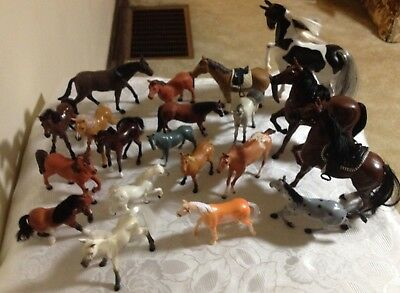 Toy animal horse lot of 20 stallion mare filly