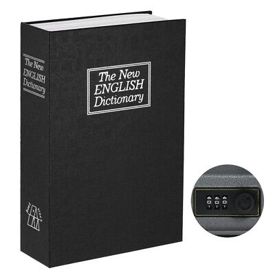 Security Hidden Safe Box with Combination Lock English Dictionary Diversion Q5K6