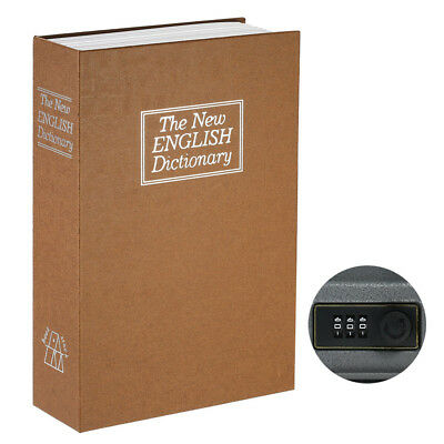 Security Hidden Safe Box with Combination Lock English Dictionary Diversion I9K3