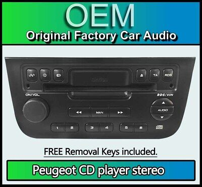 Peugeot 406 CD player radio, Peugeot RD3 Clarion PU-2184 A stereo + removal keys