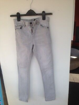Boys Super Skinny Next Jeans pale grey Age 10 years excellent condition