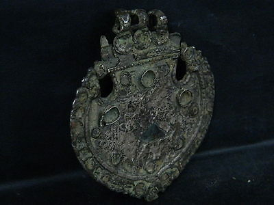 Ancient Large Size Bronze Pendant Islamic 1400 AD #SG6076