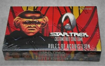 Star Trek Ccg Rules Of Acquisition 30 Pack Booster Box  + 6 Free Packs New