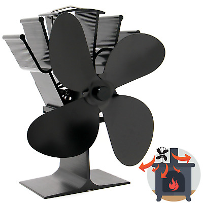 Heat Powered 4 Blade Stove Fan | Eco Fireplace Efficiency | M&W