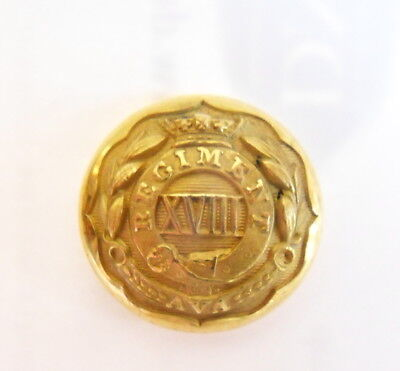 Indian Army. 18th Madras Infantry Officer's Coatee/Tunic Button