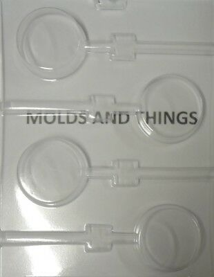 Plain Cookie Lolly Chocolate candy mould With © Moulding Instruction -set