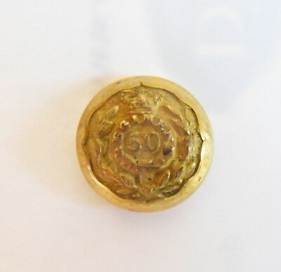 Indian Army. 50th Madras Infantry Officer's Coatee/ Tunic Button