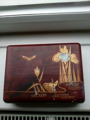 Antique Japanese Makie Decorated Box