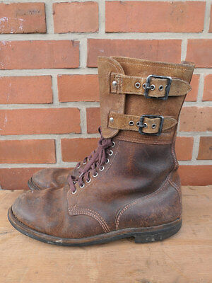 #B Typ US WW2 Leder Stiefel Buckle Boots Shoes Kampfstiefel Gr.46  #1018