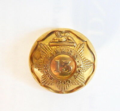 Indian Army. 13th Bombay Infantry Officer's Coatee/ Tunic Button